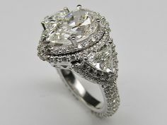 Pear Shape Diamond Vintage Engagement Ring
