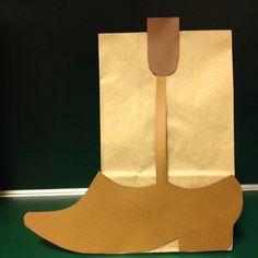 Cowboy boot goodie bag!