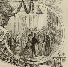 engraving by F. H. Taylor of the Nellie Grant and Algernon Sartoris wedding reception. Partial issue of The Daily Graphic, May 23, 1874. Missouri History Museum. collections.mohistory.org #wedding #grant #victorianwedding #whitehouse #ulyssessgrant #vintagewedding