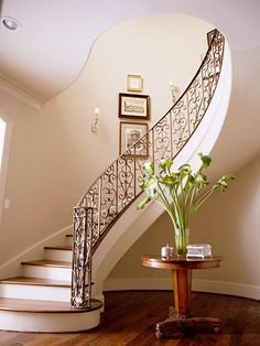this is one of those staircases that the girl walks down to meet her prom date :)