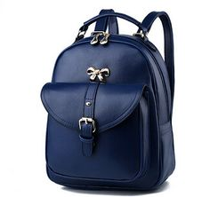 Chic Stylish Buckle PU Leather Medium-Capacity High-Quality Backpack 11 Colors