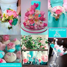 Turquoise and Pink Wedding Colors | #exclusivelyweddings