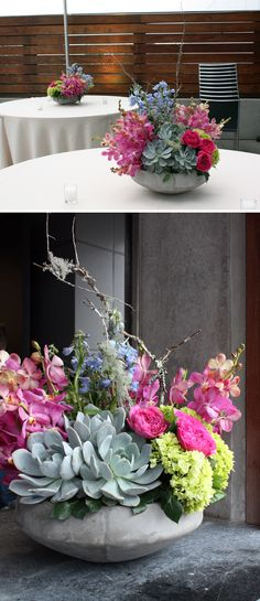 fabulous mix of flowers by crosspollination: modern at the w hotel