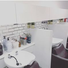 These Mirror Subway tile adds depth and dimension to your salon. Add as many rectangle as you want to create the shape and size of mirror you want. Mirror Tiles, Subway Tile, Sink, Shape, Create, Home Decor, Sink Tops, Vessel Sink, Decoration Home