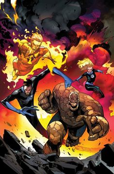 Fantastic Four - W.You can find Fantastic four and more on our website.Fantastic Four - W. Heros Comics, Marvel Comics Art, Marvel Heroes, Captain Marvel, Avengers Comics, Fantastic Four Marvel, Mister Fantastic, The Thing Fantastic Four, Fantastic Four Characters