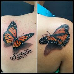3D #Monarch #Butterfly #tattoo #realistic #FunTattoo #memorial # ...