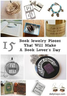 These jewelry pieces would make any book-lover's day! #giftideas #books