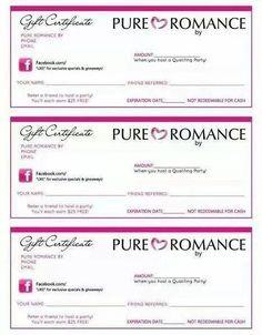 Pure Romance printable
