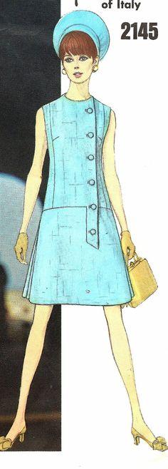 Vogue Paris Original 2145 - Fabiani - UNCUT - Bust 36 ~ designer Fabiani is a personal favorite of mine 60 Fashion, Fashion History, Retro Fashion, Vintage Fashion, Fashion Design, Moda Retro, Moda Vintage, Vintage Mode, Vintage Outfits