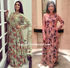 pernia-qureshi-amrita-puri-bhumika-sharma love the floral prints and the color. cool color for the monsoon