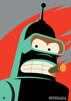 Bender from Futurama. He has a cool name.
