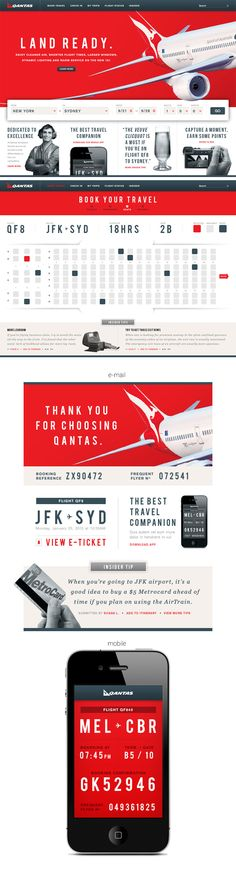 "Conceptual designs for Qantas, centered around the ""Land Ready"" campaign for their new fleet of Boeing 787's. - by Badrul Rupak"