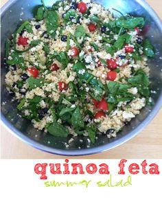 Summer quinoa and feta salad!