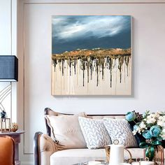 Large oil Painting Abstract Mountain Wall Art Gold Leaf Painting Canvas Large Texture Wall Art Original Abstract Painting by Julia Kotenko