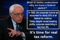 thanks Bernie, but reform won't do it, revolution will.  End Corporate Welfare!