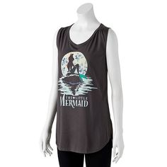 Disney The Little Mermaid Graphic Print Muscle Tank - Juniors