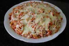Buena cocina mediterranea: Macaroni with tomato, chorizo and mozzarella