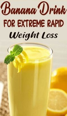 Powerful Banana Drink For Extreme & Rapid Weight Loss - Natural Home Remedies