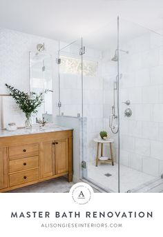 Light and Airy master bath renovation by Alison Giese Interiors Green Furniture Living Room, Bathroom Renovation, Bathroom Inspiration, Bathroom Decor, Bathrooms Remodel, Corner Shower, Master Bath Renovation, Bath Renovation, Bathroom Renovations