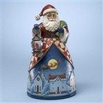 And To All A Good Nite-Santa Over The Village Figurine from Christmas - Jim Shore Store