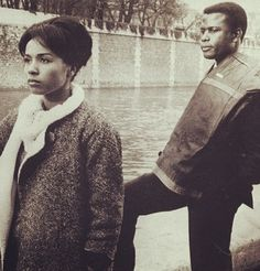 Diahann Carroll and Sidney Poitier walk along the Seinne in Paris Blues. One of my favorite movies.