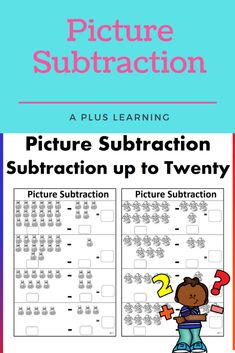 Picture Subtraction up to Twenty Math Resources, Math Activities, My Teacher, The Twenties, Student, Writing, Group, Black And White, Learning
