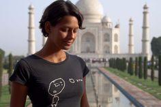"Kipepeo ""Love you"" Shirt, Taj Mahal, Indien."