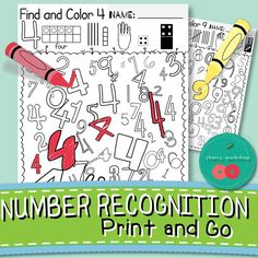 Fun Number Worksheets. Kids need to find all of the same number in different fonts. Great Number recognition and discrimination activity. + ten frames, little fingers, tally marks, domino, dice and blocks to reinforce number sense.