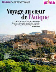 """Article """"Voyage au cœur de l'Attique"""" dans @MagazinePrima mai (en kiosque) #Grèce #Attique ⭐Athènes & l'Acropole ⭐Canal de Corinthe ⭐Cap Sounion ⭐Egine ⭐Marathon #LabelEvasions #VacancesHéliades"""