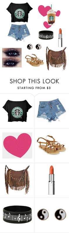 """""""Stoppin at Starbucks"""" by chrisantal ❤ liked on Polyvore featuring M.S.P., Tattly, Accessorize, Liquorish, RMK, women's clothing, women's fashion, women, female and woman"""