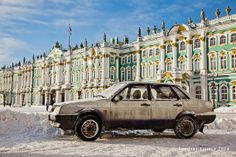 Old Lada in front of the Winter Palace by NostalgiaPhotographs, $35.00