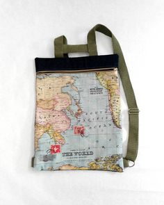 Tote bag canvas world map canvas gift for traveler eco bag tote bag canvas world map canvas gift for traveler eco bag pinterest tote bag canvases and bag gumiabroncs Choice Image