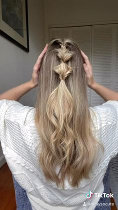 Easy Hairstyles For Long Hair, Pretty Hairstyles, Braided Hairstyles, Running Late Hairstyles, Easy Everyday Hairstyles, Pigtail Hairstyles, Hairstyles Videos, Teen Hairstyles, Casual Hairstyles