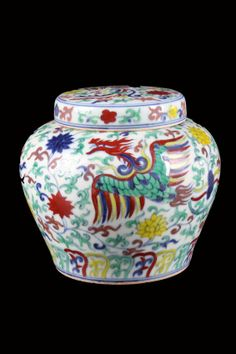 """CHINESE TIAN MARKED FAMILLE ROSE PORCELAIN POT CARVED WITH FLOWRS W:5.25"""" H:5.25"""""""
