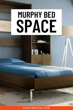 Wondering if a murphy bed will help with your small space living? Not sure what size is right for you or how it might fit in your tiny home? Check out this post with all the info you need to make in informed decision on a murphy bed to help you in your tiny home adventure. Storage Hacks, Bed Storage, Storage Ideas, Space Saving Beds, Space Saving Furniture, Small Space Living, Small Spaces, Multipurpose Furniture, Transforming Furniture