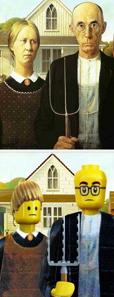 Lego Art American Gothic by Grant Wood