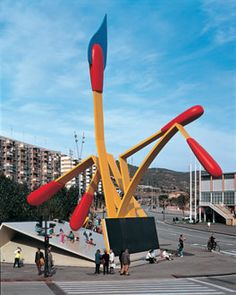 Matchbook - Barcelona  by The artistic team of Coosje van Bruggen and Claes Oldenburg