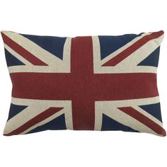 Park B. Smith Great Britain Flag Tapestry Decorative Pillow ($30) ❤ liked on Polyvore featuring home, home decor, throw pillows, flag throw pillow and tapestry throw pillows