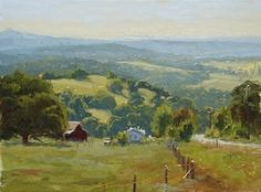 Coming Into The Country by Kathleen Dunphy Oil ~ 12 x 16 - landscape painting