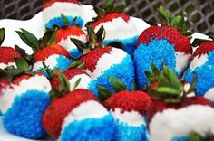 Red white & blue strawberries #4thofjuly
