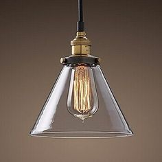 64.99$  Watch here - http://ai912.worlditems.win/all/product.php?id=32329474873 - Loft Style Industrial Edison Vintaget Iron Pendant Light With 1 Light In Glass Shade,For Home Living Lights,E27,Bulb Included
