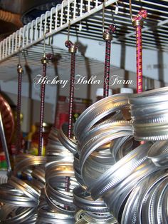 Storing Jar Rings - How do you store those bulky jar rings? Blessings from The Holler The Canned Quilter - Canning Tips, Home Canning, Canning Recipes, Canning Kitchen Ideas, Kitchen Tips, Kitchen Storage, Canning Food Preservation, Preserving Food, Emergency Preparedness