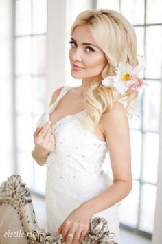 Long Wedding Hairstyles and Bridal Updo Hairstyles for Long Hair from elstile-spb 3
