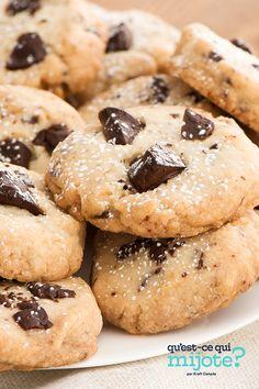 Sablés aux morceaux de chocolat #recette Easy Shortbread Cookie Recipe, Shortbread Recipes, Shortbread Cookies, Cookie Recipes, Kraft Recipes, Calories, Sweets, Chocolate, Desserts