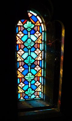 Stained Glass with Cobwebs