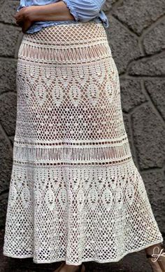 crochet skirt by krinichka on Etsy
