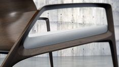 Close up of the armchair rendering by graphic and industrial designer Angel Corso.