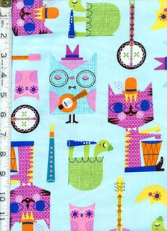 Jazz Between Friends by Suzy Ultman for Robert Kaufman ~ A fun and funky collection celebrating the friendships that develop with music! Follow this pin to the Fabric Shack to see the entire collection!