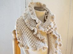 Ruffle Scarf (or Not) Knitting and Crochet Pattern