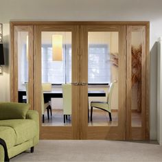 Easi-Frame Oak Door Set, GOSHAP10-COEOP3-838, 2005mm Height, 2364mm Wide. #oakdoor #glazedoakdoor #internaloakdoor